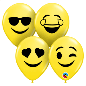 Qualatex balloons Emoji Smiley yellow 5 inch balloons
