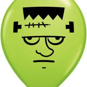 """5"""" Frankenstein Face Qualatex balloon 5 inch."""