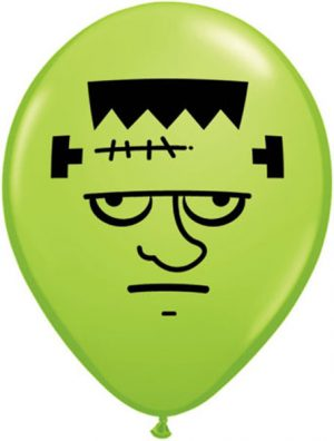 "5"" Frankenstein Face Qualatex balloon 5 inch."