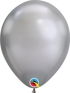 Chrome Silver Qualatex Modelling balloon round 11""