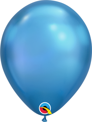 Chrome Blue Qualatex Modelling balloon round 11""