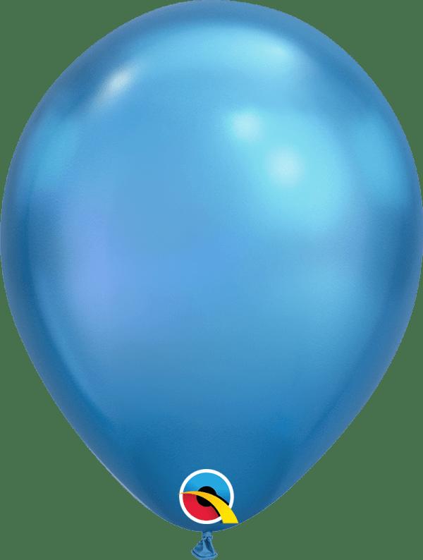 Chrome Blue Qualatex Modelling balloon round