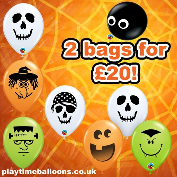 "5"" Qualatex Halloween Balloon Deal"