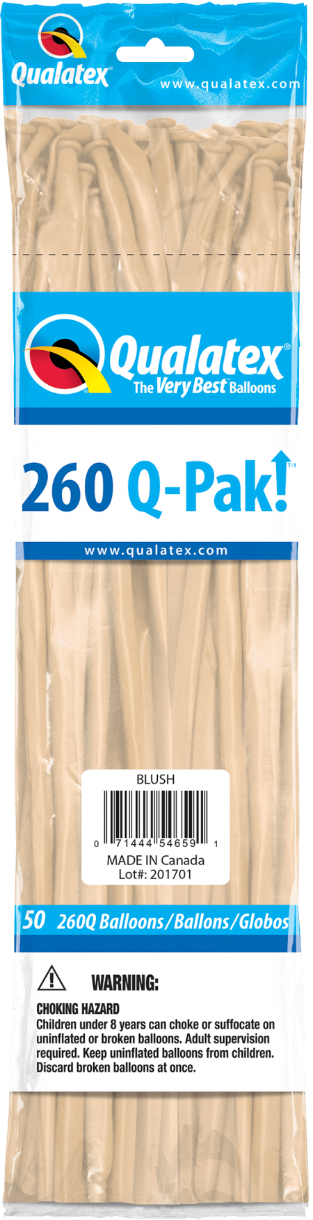 Blush Q-Pak Qualatex Modelling Balloons 260Q
