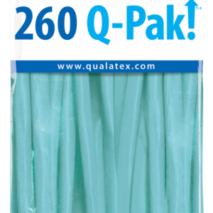 Caribbean Blue Q-Pak Qualatex Modelling Balloons 260Q