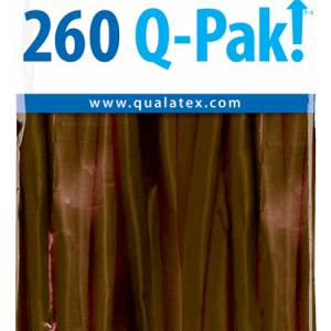 Chocolate Brown Q-Pak Qualatex Modelling Balloons 260Q