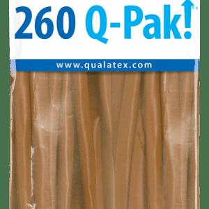 Mocha Brown Q-Pak Qualatex Modelling Balloons 260Q