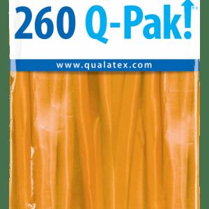 Orange Q-Pak Qualatex Modelling Balloons 260Q