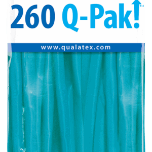 Tropical Teal Q-Pak Qualatex Modelling Balloons 260Q