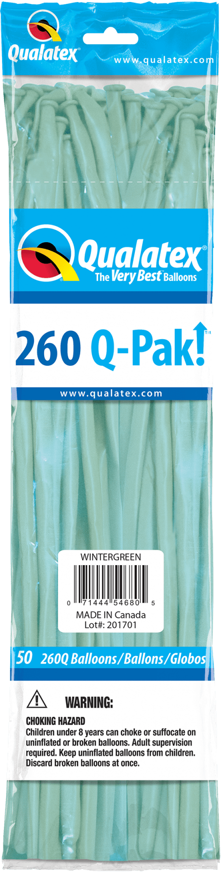 Wintergreen Q-Pak Qualatex Modelling Balloons 260Q