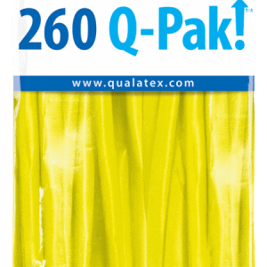 Yellow Q-Pak Qualatex Modelling Balloons 260Q