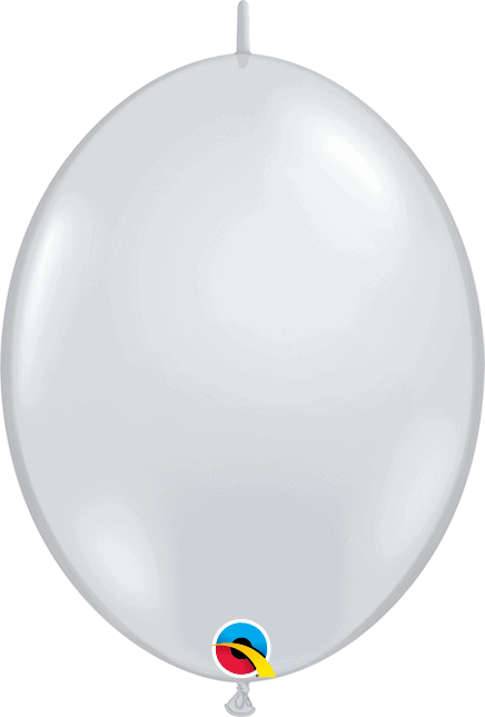 "6"" Diamond Clear Quick Link Qualatex Modelling Balloon Decoration"