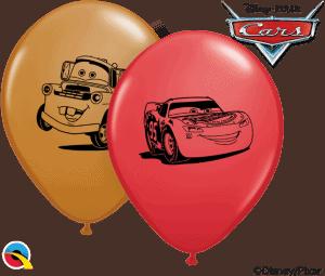 "5"" print Cars Disney Lightening McQueen and Mater Qualatex Balloon"